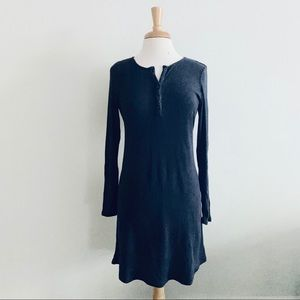 American Eagle Blue Ribbed Longsleeve Dress Sz L